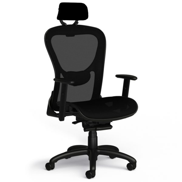 9to5 seating strata 1590 all mesh headrest