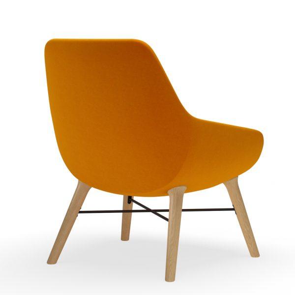 9to5seating lilly lounge ashwood angle