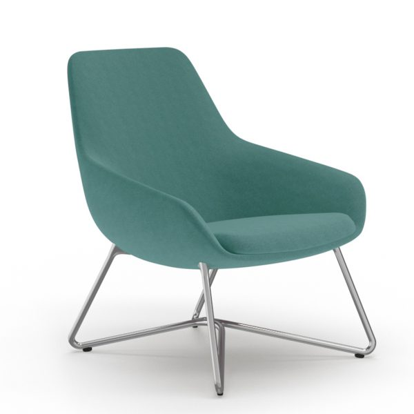 9to5seating lilly lounge blue w legs front
