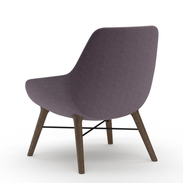 9to5seating lilly lounge walnut purple side