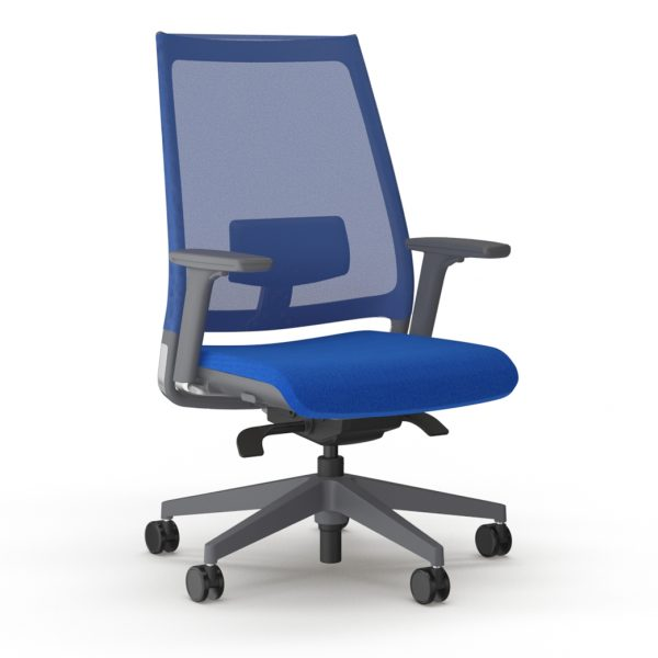 9to5seating luna blue w1 a45 pdg front angled