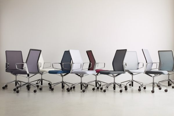 aesyncgroupshot lowres <ul> <li>available armless or with arms (with or without armcaps)</li> <li>aluminum, nylon, or jury base, and a work stool height option</li> <li>aluminum frames and bases are available polished or powder-coated in four colors: black, dark grey, warm grey, and white</li> <li>nylon bases, mesh carriers, and arm caps are vailable in black, dark grey, and warm grey</li> </ul>