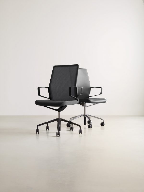 aesync 11225 aesync11345 lowres <ul> <li>available armless or with arms (with or without armcaps)</li> <li>aluminum, nylon, or jury base, and a work stool height option</li> <li>aluminum frames and bases are available polished or powder-coated in four colors: black, dark grey, warm grey, and white</li> <li>nylon bases, mesh carriers, and arm caps are vailable in black, dark grey, and warm grey</li> </ul>