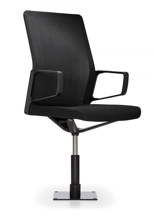 aesync 11246 jury 3quarter black lowres <ul> <li>available armless or with arms (with or without armcaps)</li> <li>aluminum, nylon, or jury base, and a work stool height option</li> <li>aluminum frames and bases are available polished or powder-coated in four colors: black, dark grey, warm grey, and white</li> <li>nylon bases, mesh carriers, and arm caps are vailable in black, dark grey, and warm grey</li> </ul>