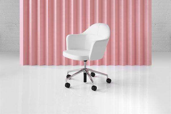 collo keilhauer alan desk 8 <ul> <li>available in multiple textiles & com</li> <li>arm or armless option</li> <li>5 star aluminum base or nylon base available in black, warm grey, and dark grey</li> <li>available as a guest & lounge chair</li> </ul>