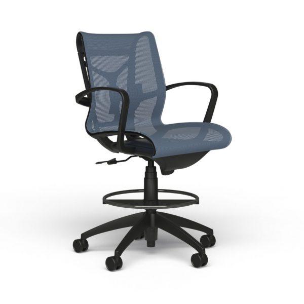 alan desk cydia mesh stool 9to5 seating