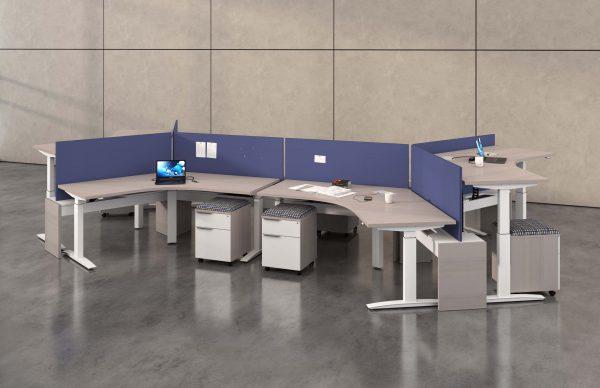 deskmakers hover heightadjustable desk benching alandesk 1 scaled