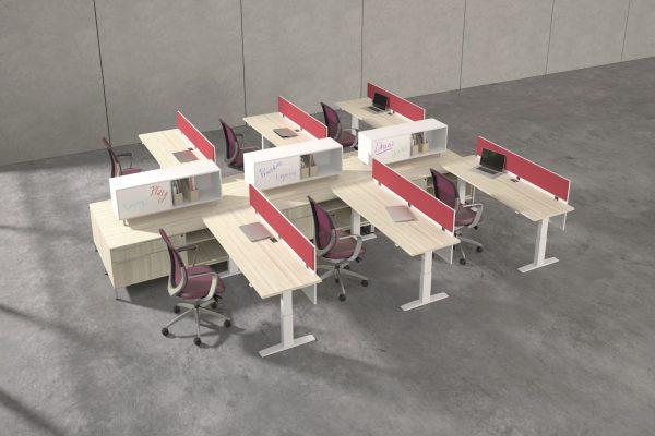deskmakers hover heightadjustable desk benching alandesk 11 scaled