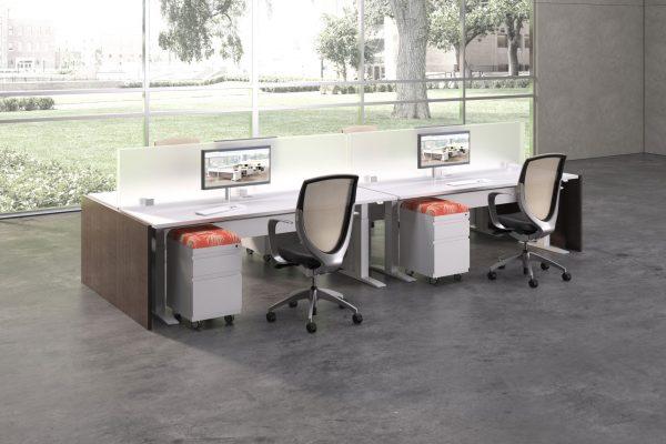 deskmakers hover heightadjustable desk benching alandesk 13 scaled