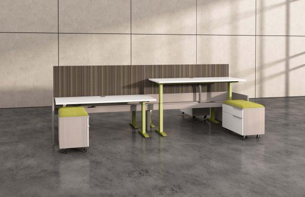 deskmakers hover heightadjustable desk benching alandesk 17 scaled