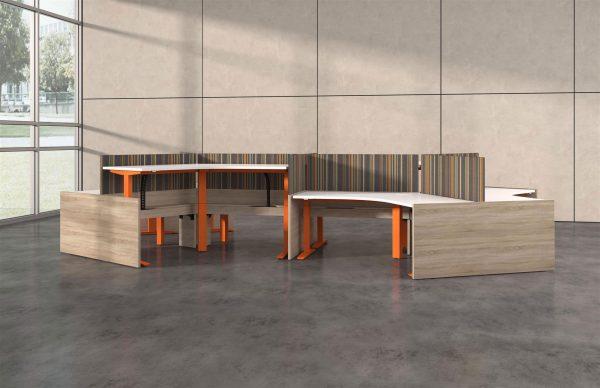 deskmakers hover heightadjustable desk benching alandesk 24