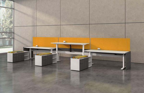 deskmakers hover heightadjustable desk benching alandesk 25