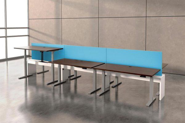 deskmakers hover heightadjustable desk benching alandesk 27
