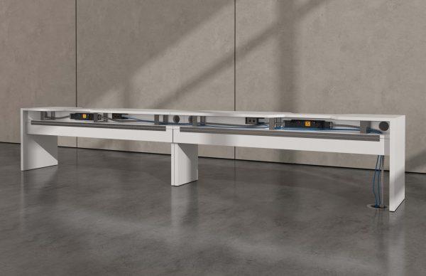 deskmakers hover heightadjustable desk benching alandesk 3 scaled