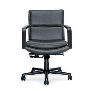Keilhauer elite conference chair in black leather