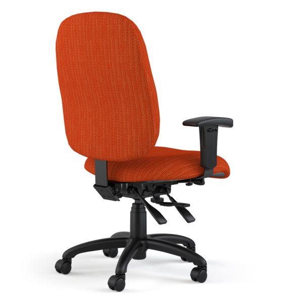 logic highback orange back angle
