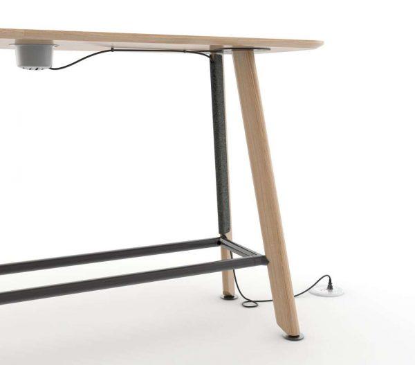 ofs heya tables v22 wire management i1 wr <ul> <li>available as a meeting table</li> <li>top options: laminate, veneer, and solid surface</li> </ul>