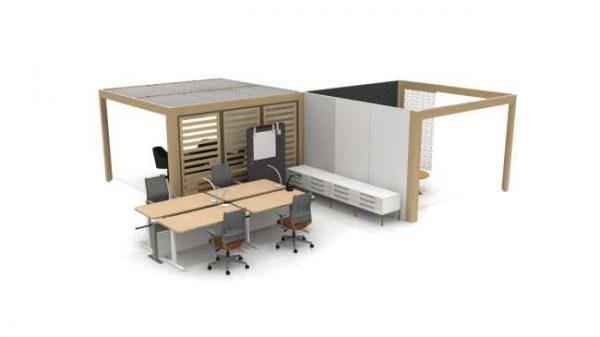t100202 <ul> <li>available as a meeting table</li> <li>top options: laminate, veneer, and solid surface</li> </ul>