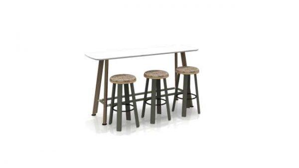 t400101 <ul> <li>available as a meeting table</li> <li>top options: laminate, veneer, and solid surface</li> </ul>