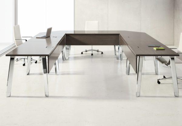 agility reconfigrable table alan desk nucraft 7