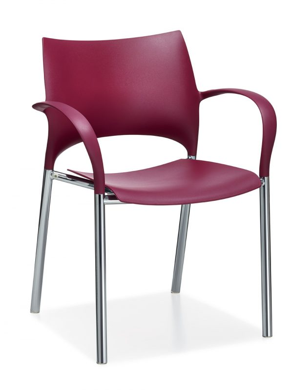 Alan Desk Loon Stacking / Nesting Chair Keilhauer