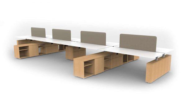 alan desk aptos benching open plan ofs