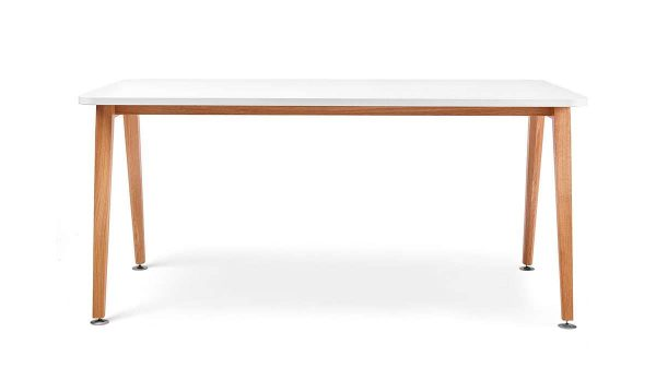 ofs elevenables cafe dining alan desk 13 <ul> <li>available as a community, meeting, and conference table</li> <li>materials: wood veneer, laminate, and solid surface tops</li> </ul>