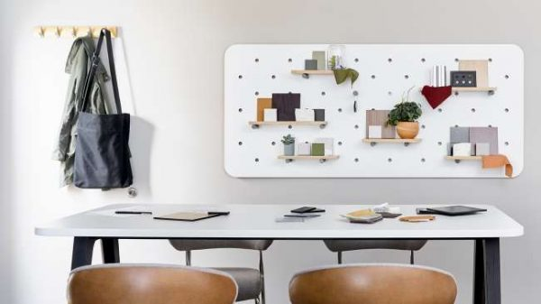 ofs elevenables cafe dining alan desk 16 <ul> <li>available as a community, meeting, and conference table</li> <li>materials: wood veneer, laminate, and solid surface tops</li> </ul>