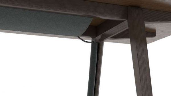 ofs elevenables cafe dining alan desk 4 <ul> <li>available as a community, meeting, and conference table</li> <li>materials: wood veneer, laminate, and solid surface tops</li> </ul>