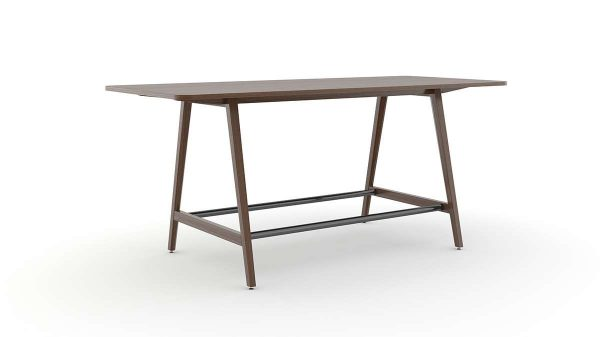 ofs elevenables cafe dining alan desk 8 <ul> <li>available as a community, meeting, and conference table</li> <li>materials: wood veneer, laminate, and solid surface tops</li> </ul>