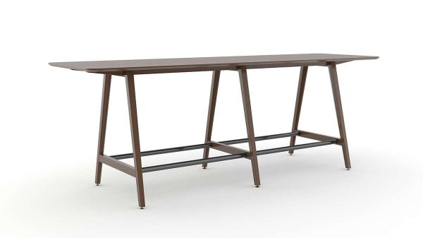 ofs elevenables cafe dining alan desk 9 <ul> <li>available as a community, meeting, and conference table</li> <li>materials: wood veneer, laminate, and solid surface tops</li> </ul>