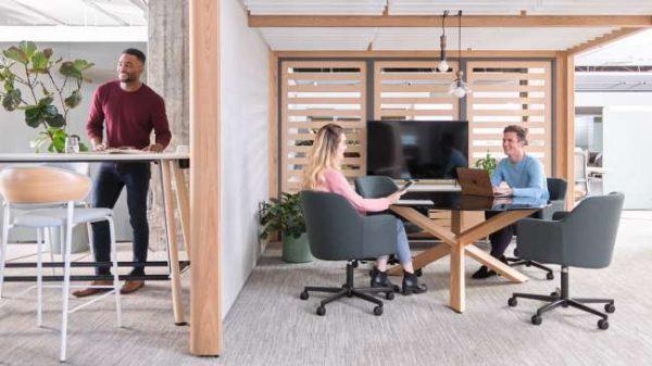 ofs heya tables conference alan desk 1 <ul> <li>available as a meeting table</li> <li>top options: laminate, veneer, and solid surface</li> </ul>