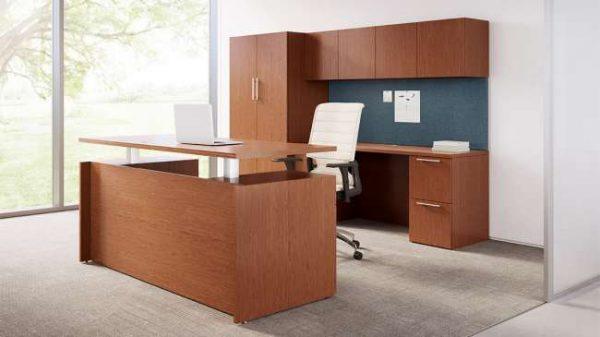ofs pulse private office casegoods alan desk 7