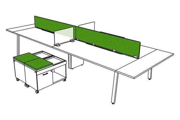 parkway open plan three h alan desk 18
