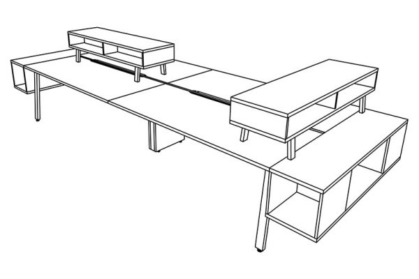parkway open plan three h alan desk 21