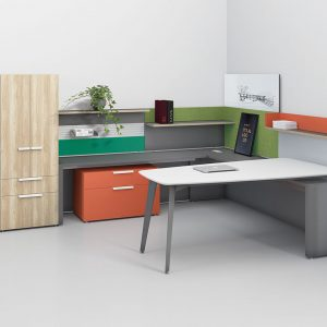 Alan Desk Rescape Private Office Three H