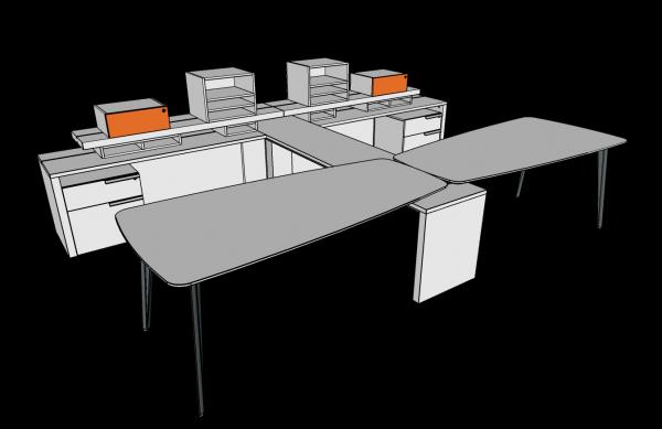 workshelf private office three h alan desk 13