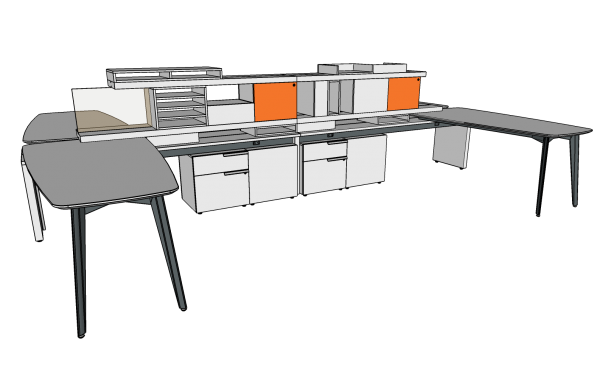 workshelf private office three h alan desk 14