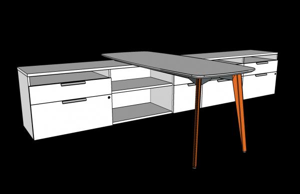workshelf private office three h alan desk 15