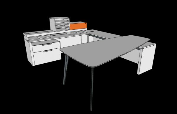 workshelf private office three h alan desk 6