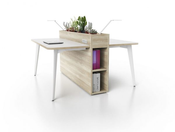 Alan Desk Workstops Open Plan Three H
