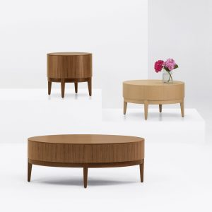 Alan Desk Ovate Occasional Tables Arcadia
