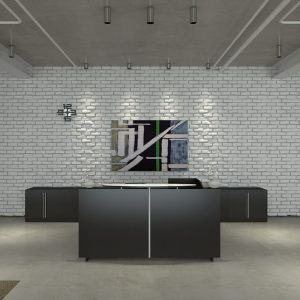 Alan Desk Verde Reception Station Cherryman