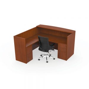 Alan Desk Ruby Reception Station Cherryman Industries