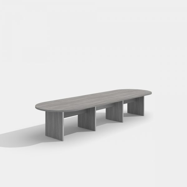 cherryman amber conference table in grey laminate
