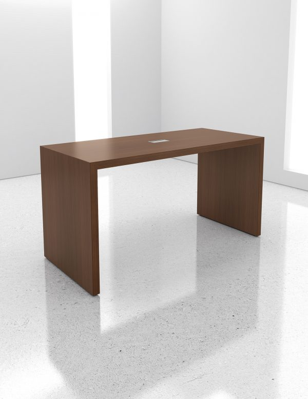 ando conference tables krug alan desk 2 features: <ul> <li>available in desk and bar height, in various lengths</li> <li>available in the following wood species: oak, cherry, maple, walnut, and anigre</li> <li>custom wood finishes available</li> <li>multiple options for power/data & cable management</li> </ul>