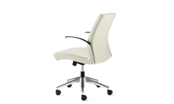 source international clever conference chair 2 <ul> <li>mechanism: swivel tilt, knee tilt, fixed height swivel tilt</li> <li>arms: polished aluminum & soft chrome</li> <li>arm caps: black or gray poly</li> <li>base: polished aluminum, soft chrome, black nylon</li> <li>multiple textiles available</li> </ul>
