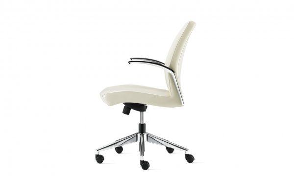 source international clever conference chair 3 <ul> <li>mechanism: swivel tilt, knee tilt, fixed height swivel tilt</li> <li>arms: polished aluminum & soft chrome</li> <li>arm caps: black or gray poly</li> <li>base: polished aluminum, soft chrome, black nylon</li> <li>multiple textiles available</li> </ul>