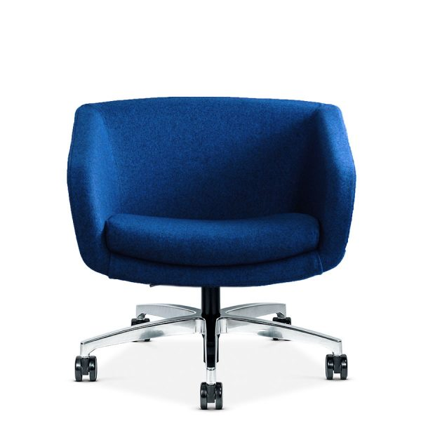 library images edge 9e4 chair 18pb blue wool front view