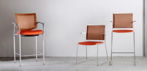 vista 2 stool seating via seating alan desk 4